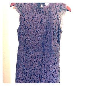 Purple lace sheath dress, size L
